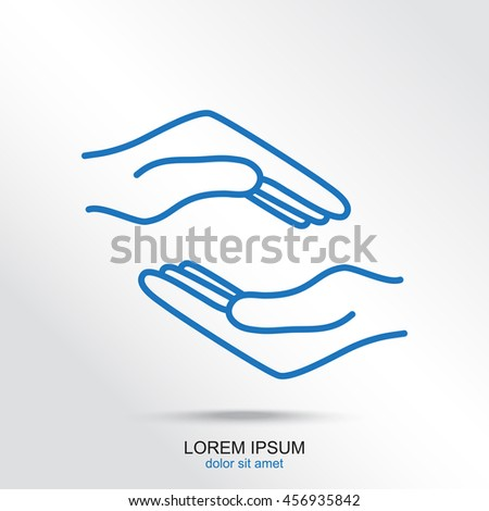 Line icon- hands