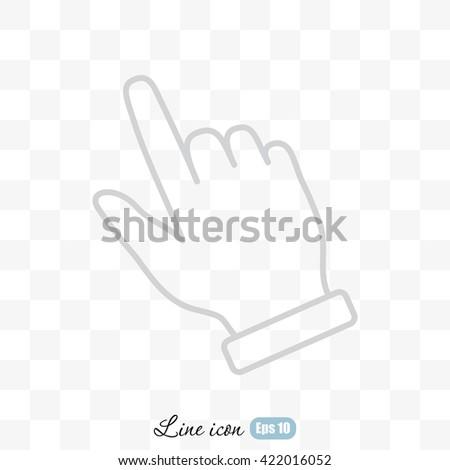 Line icon- pointer - stock vector