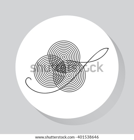 Line icon snail. Vector Image. - stock vector