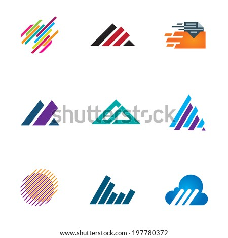 Line inspiration professional design symbol fast triangle logo speed icons - stock vector