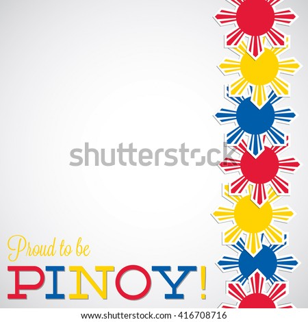Line Philippine Independence Day card in vector format. - stock vector