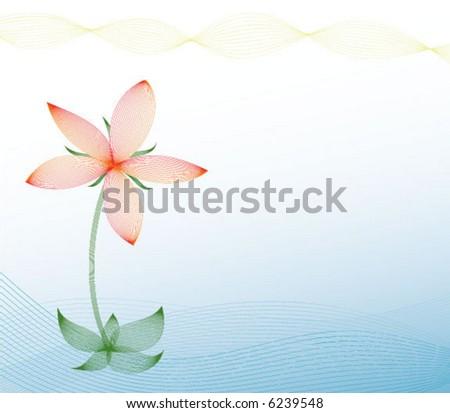 line vector flower - stock vector