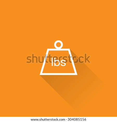 Line Weight Pounds Icon - stock vector
