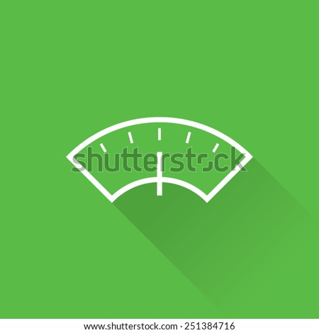 Line Weight Scale Icon - stock vector