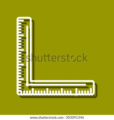 Linear icon of dividers for use in logo or web design. Often used for back to school design, stationery stores. Modern vector illustration for web store and mobile app.