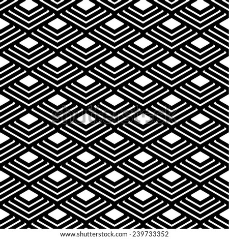 Linear scales pattern, seamless vector background.