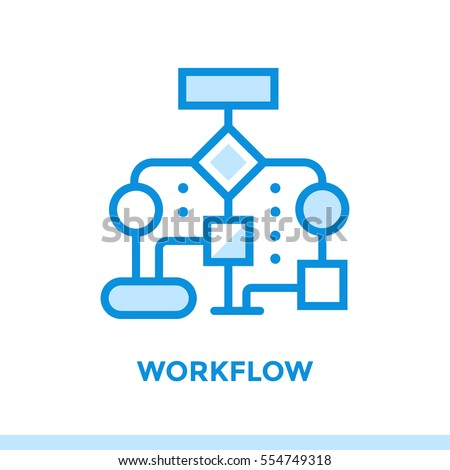 Linear workflow icon new business pictogram stock vector hd royalty linear workflow icon for new business pictogram in outline style vector modern flat icon ccuart Image collections