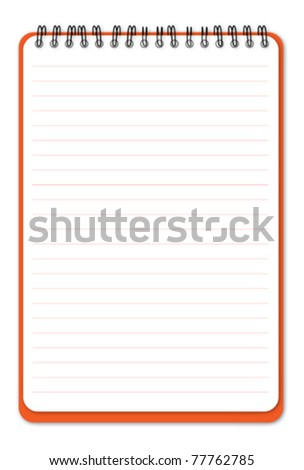 Lined notebook - stock vector