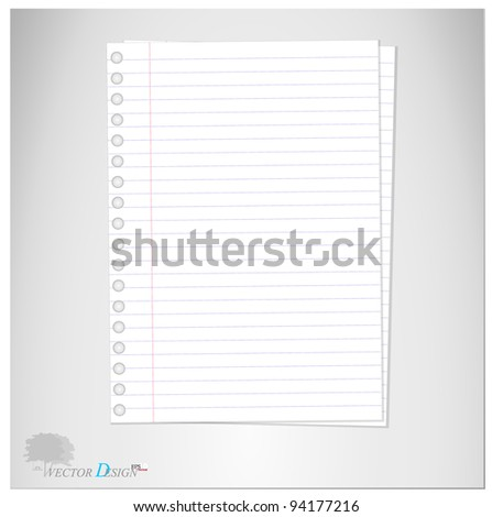 Lined Paper Note Paper Vector Illustration Vector 94212838 – Lined Paper with Picture