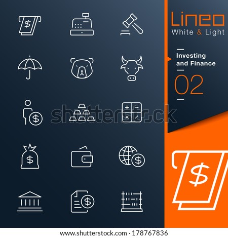 Lineo White & Light - Investing and Finance outline icons