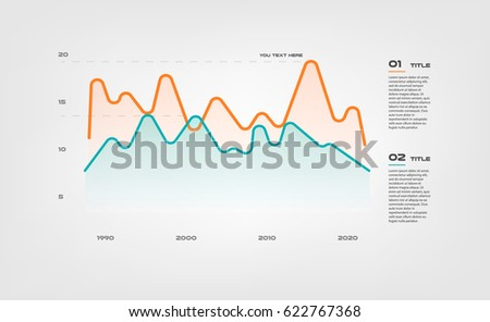 Lines Gradient Diagram Elements Color Infographics Stock Vector