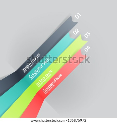 lines in perspective - infograohic design template - stock vector