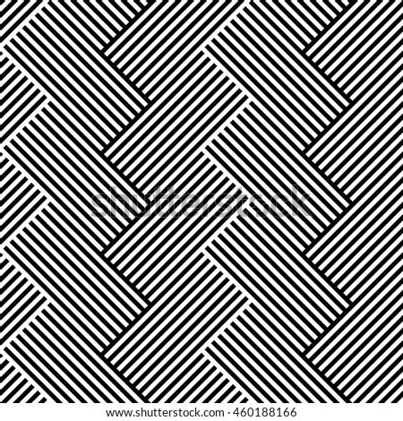 Lines repeatable geometric pattern (mosaic of lined squares)
