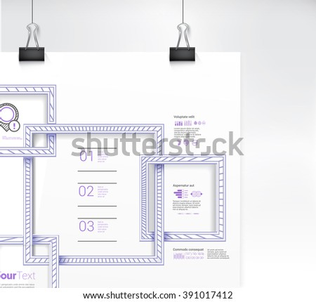 Lines Textured Squares Frame Borders vector Illustration Close Up - stock vector