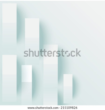 lines with drop shadows - stock vector