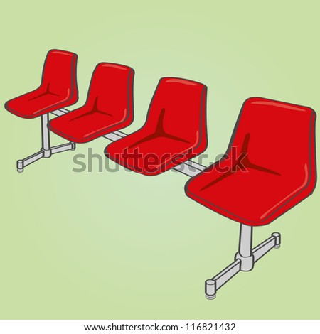 link chairs vector - stock vector