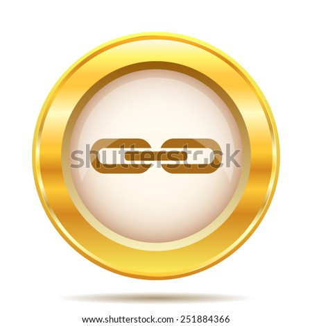 Link icon. Internet button on white background. EPS10 vector.  - stock vector