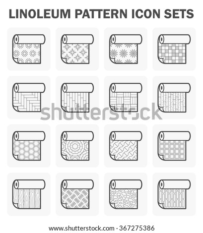 Linoleum pattern icon set. - stock vector
