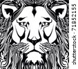 lion, - stock vector