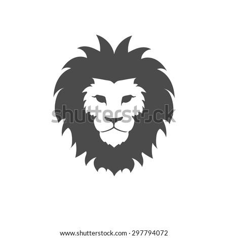 Lion face logo emblem template for  business or t-shirt design. Vector  Design Element. - stock vector