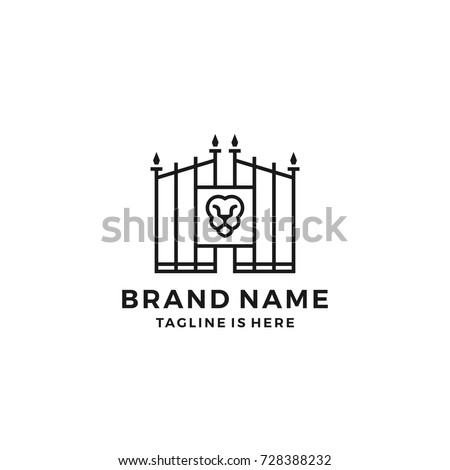 lion gate lionsgate logo template vector � stock vektor
