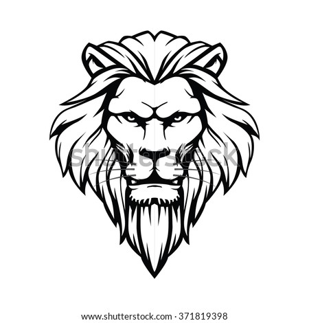 Lion head stock vector 371819398 shutterstock for Die hard tattoo albany oregon