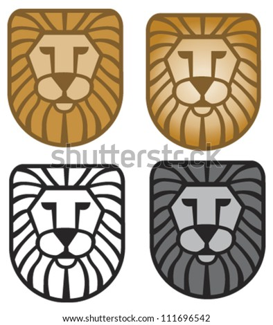 Lion Head Design Element