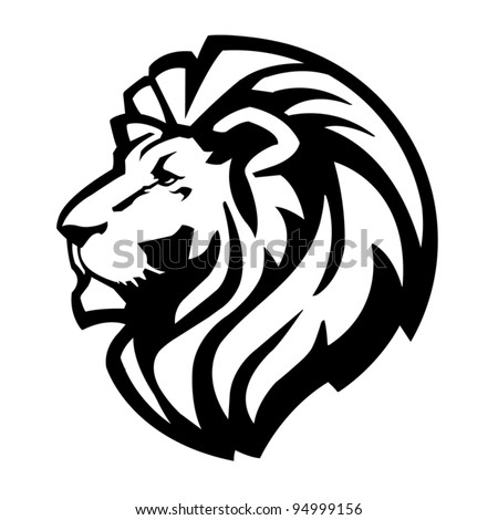 Lion Head Icon - stock vector