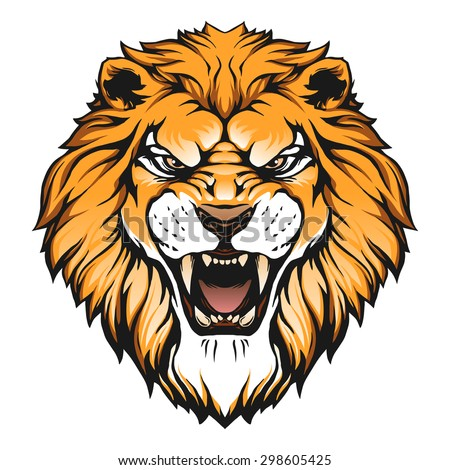 lion head illustration stock vector 298605425 shutterstock