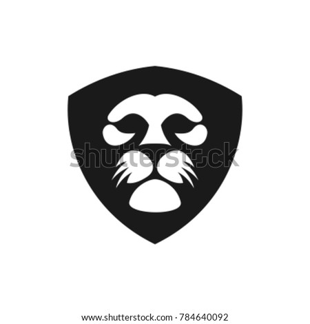 Lion head logo , Lion shield logo design template, Element for the brand identity ,Vector illustration