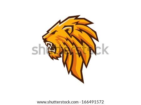lion head sport mascot - stock vector