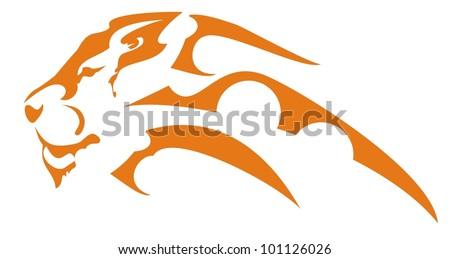 Lion head symbol - stock vector