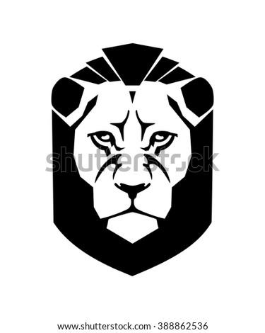 Lion head vector crest - stock vector