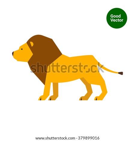 Lion icon - stock vector