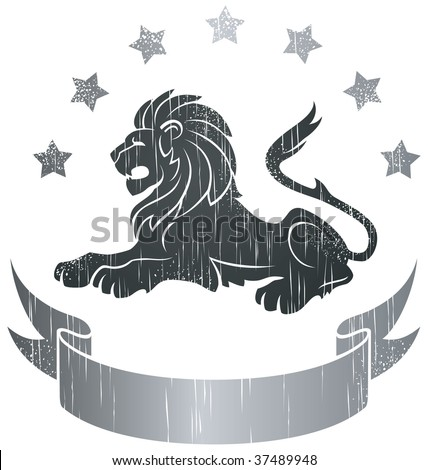 Lion Insignia - stock vector
