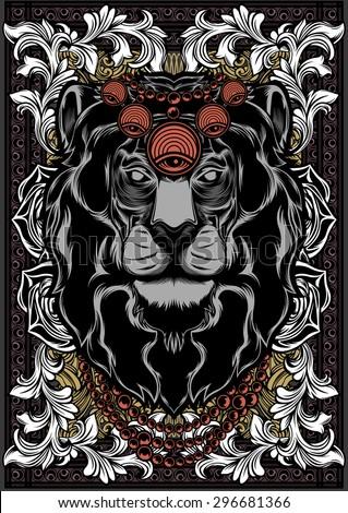 Lion King - stock vector