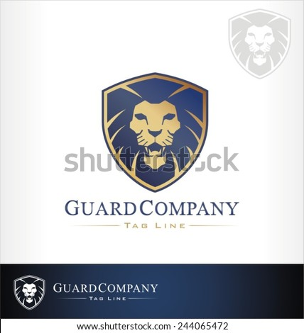 Lion logo symbol, lion symbol and icon - stock vector