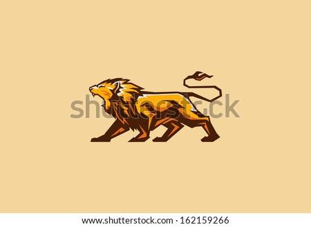 lion mascot - stock vector