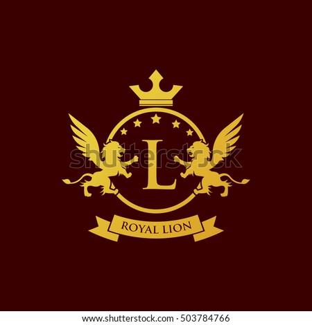 Royal lion rampant
