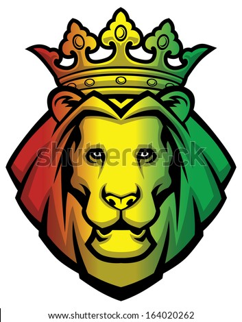 lion rasta head - stock vector