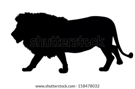Lion silhouette. Vector illustration. EPS 8 - stock vector