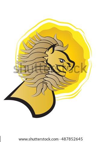 Lion Symbol St Mark Evangelist Stock Vector 487852645 Shutterstock