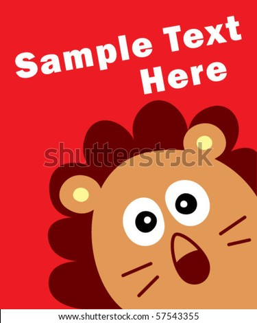 lion text here - stock vector