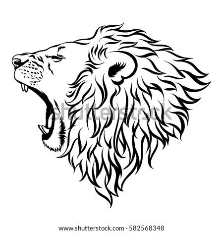 lion vector illustration stock vector 2018 582568348 shutterstock rh shutterstock com lion vector free lion vectoriel gratuit