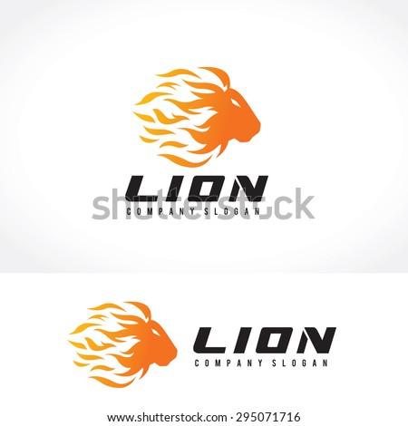 Lion Vector Logo Template - stock vector