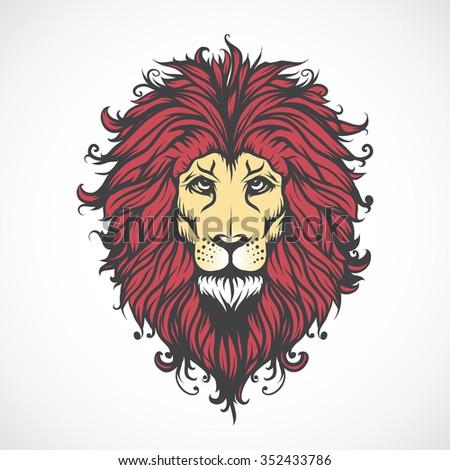 Lions Head. - stock vector