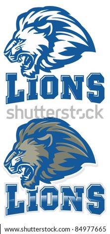 Lions Mascot. Perfect as any sport mascot logo. - stock vector