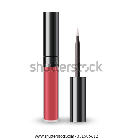 Lip Gloss Packaging : Vector Illustration - stock vector