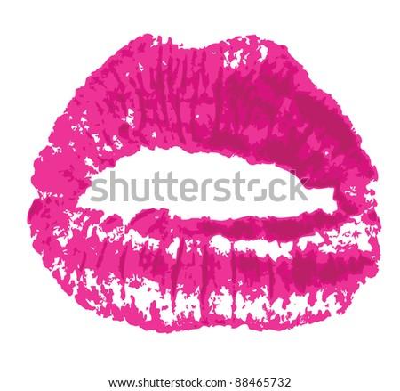 Lips mark - stock vector