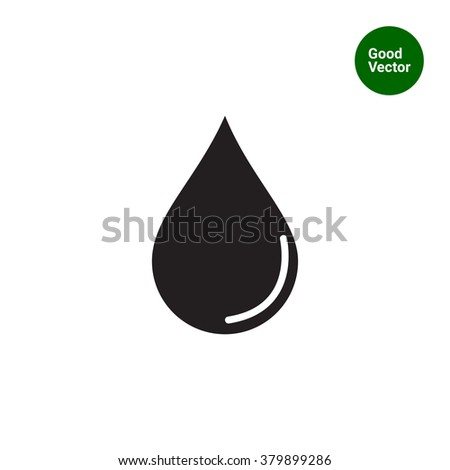 Liquid drop icon - stock vector